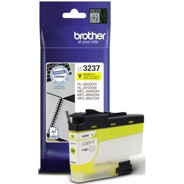 Brother Tintenpatrone LC-3237Y gelb