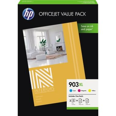 HP Tintenpatrone 903XL inkl. 75 Bl. Druckerpapier (DIN A4)
