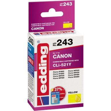 edding Tintenpatrone Canon CLI521Y
