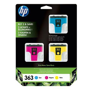 HP Tintenpatrone 363 cyan, magenta, gelb