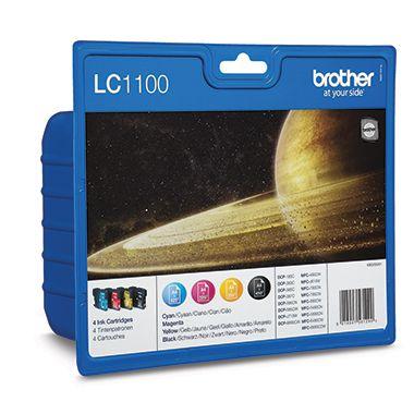 Brother Tintenpatrone LC-1100 schwarz, mehrfarbig