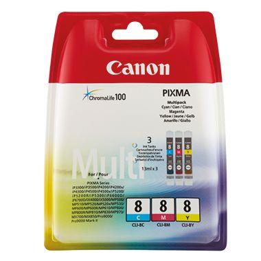 Canon Tintenpatrone CLI-8 C/M/Y