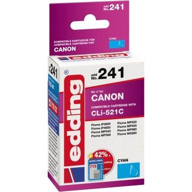 edding Tintenpatrone Canon CLI521C