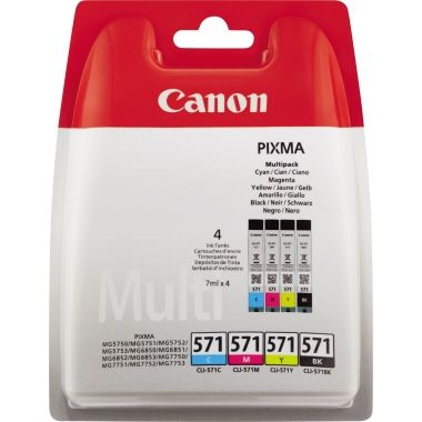 Canon Tintenpatrone CLI-571 BK/C/M/Y