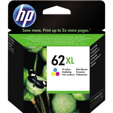 HP Tintenpatrone 62XL cyan/magenta/gelb