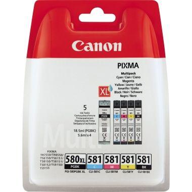 Canon Tintenpatrone PGI-580PGBK/CLI-581 BK/C/M/Y