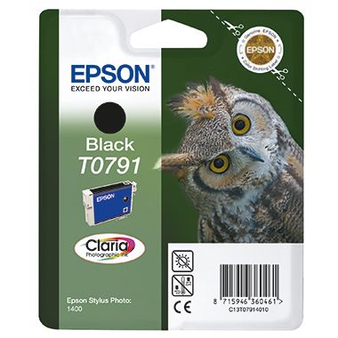 Epson Tintenpatrone T0791 schwarz
