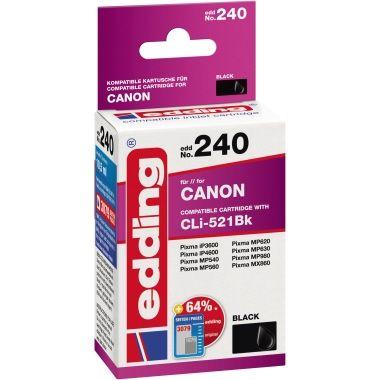 edding Tintenpatrone Canon CLI521BK